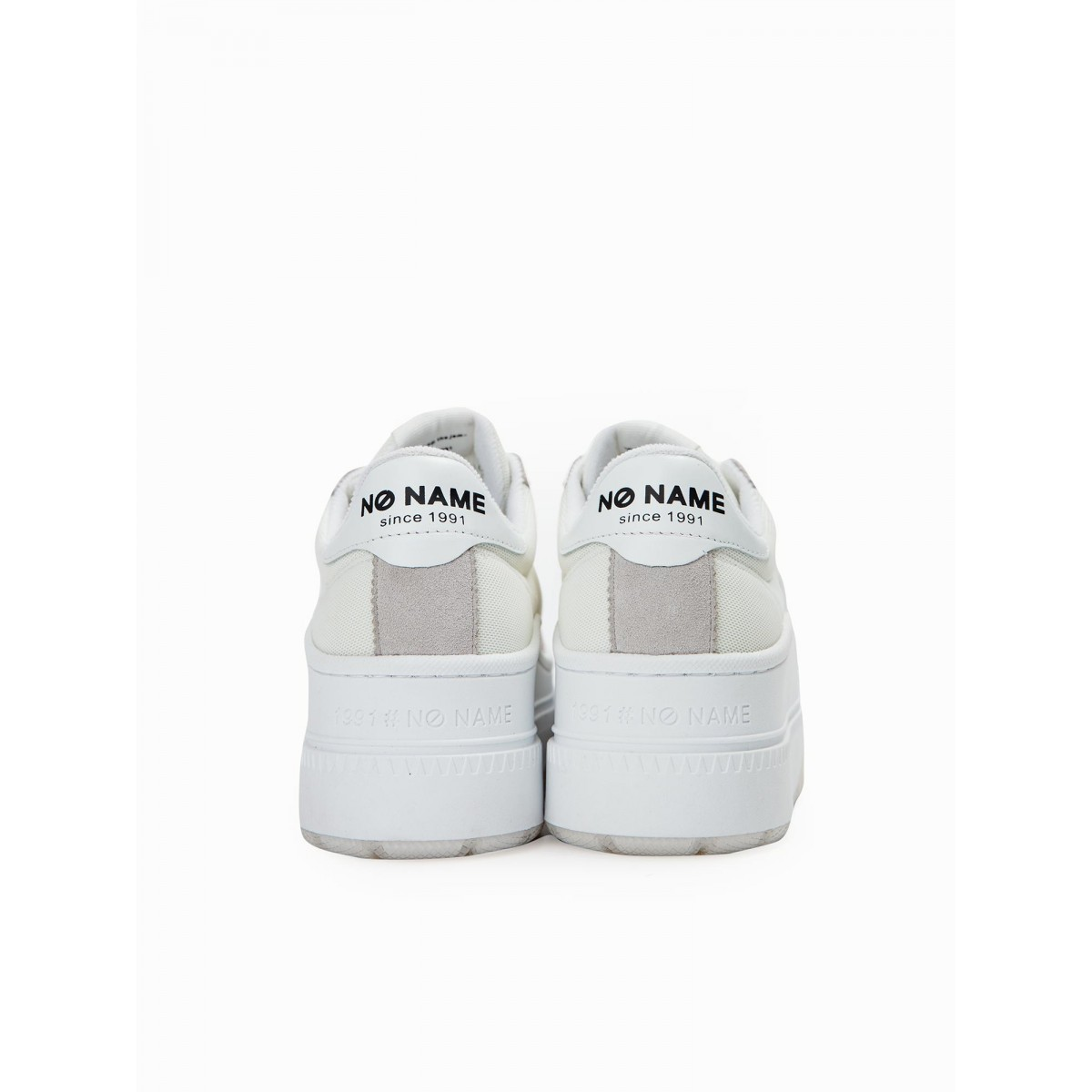 No Name JUMP TENNIS - MESH/SUEDE - WHITE/WHITE