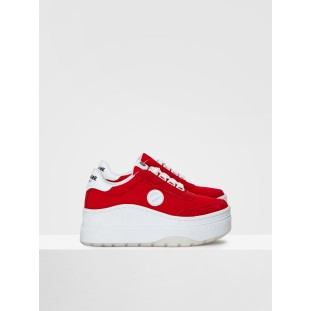 JUMP TENNIS - MESH/SUEDE - RED/RED