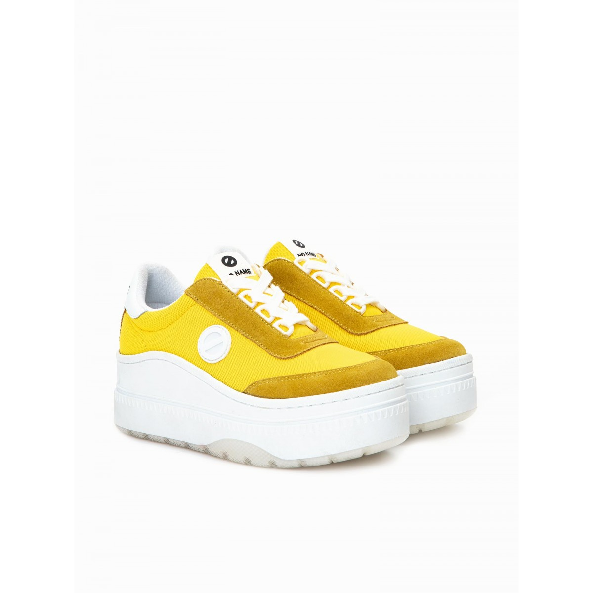 No Name JUMP TENNIS - MESH/SUEDE - YELLOW/YELLOW