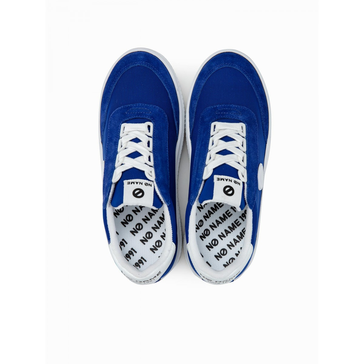 No Name JUMP TENNIS - MESH/SUEDE - ELECTRIC BLUE/BLUE
