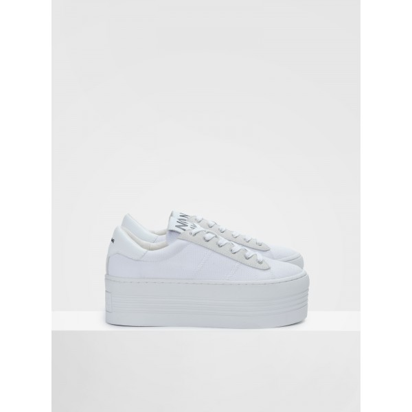 NO NAME TWIN SNEAKER - BIG CANVAS - WHITE FOX WHITE