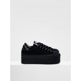 TWIN SNEAKER - BIG CANVAS - BLACK FOX BLACK