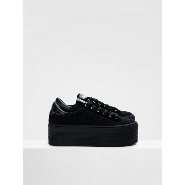 NO NAME TWIN SNEAKER - BIG CANVAS - BLACK FOX BLACK