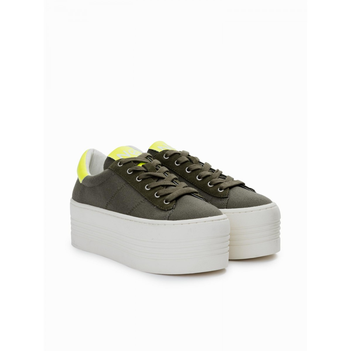 No Name TWIN SNEAKER - BIG CANVAS - FOREST FOX OFF WHITE