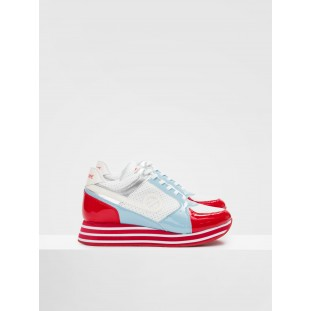 PARKO JOGGER - NAP.PERFO/LACKR - WHITE/RED