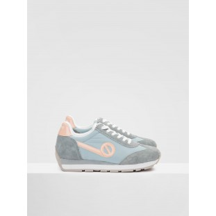 CITY RUN JOGGER - NYLON/SUEDE - AQUA/AQUA
