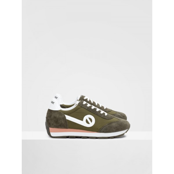 NO NAME CITY RUN JOGGER - NYLON/SUEDE - FOREST/FOREST