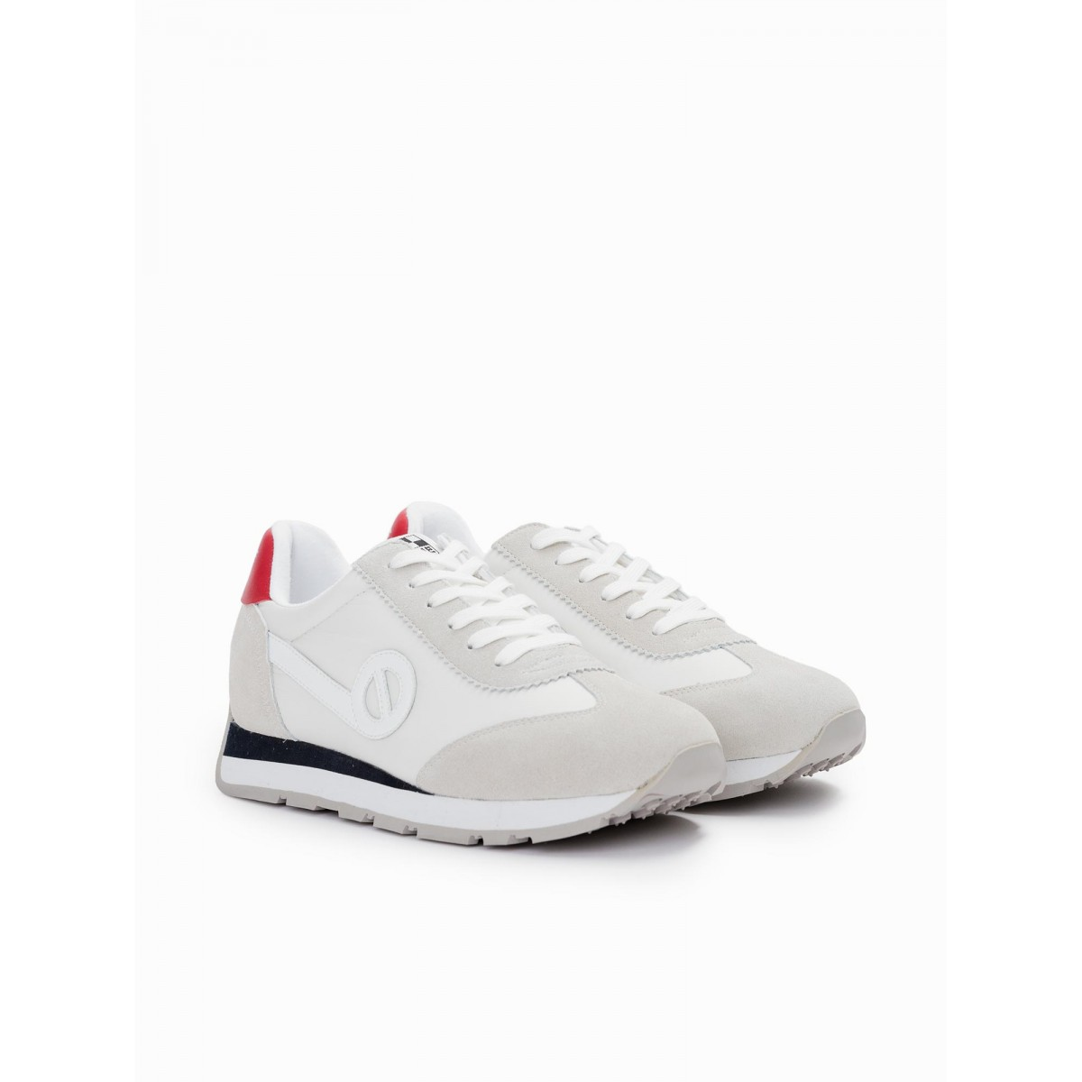 No Name CITY RUN JOGGER - NYLON/SUEDE - WHITE/WHITE