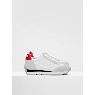 CITY RUN JOGGER - NYLON/SUEDE - WHITE/WHITE