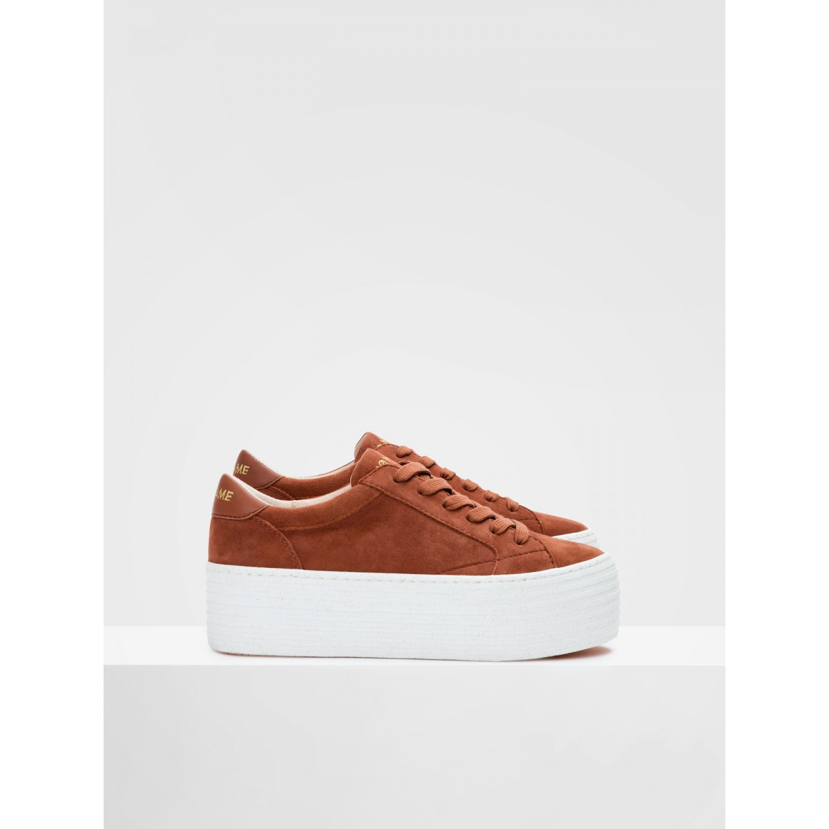 No Name SPICE SNEAKER - GOAT SUEDE - SIENNA