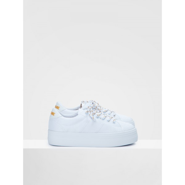 NO NAME PLATO SNEAKER - BIG NYLON - WHITE FOX WHITE