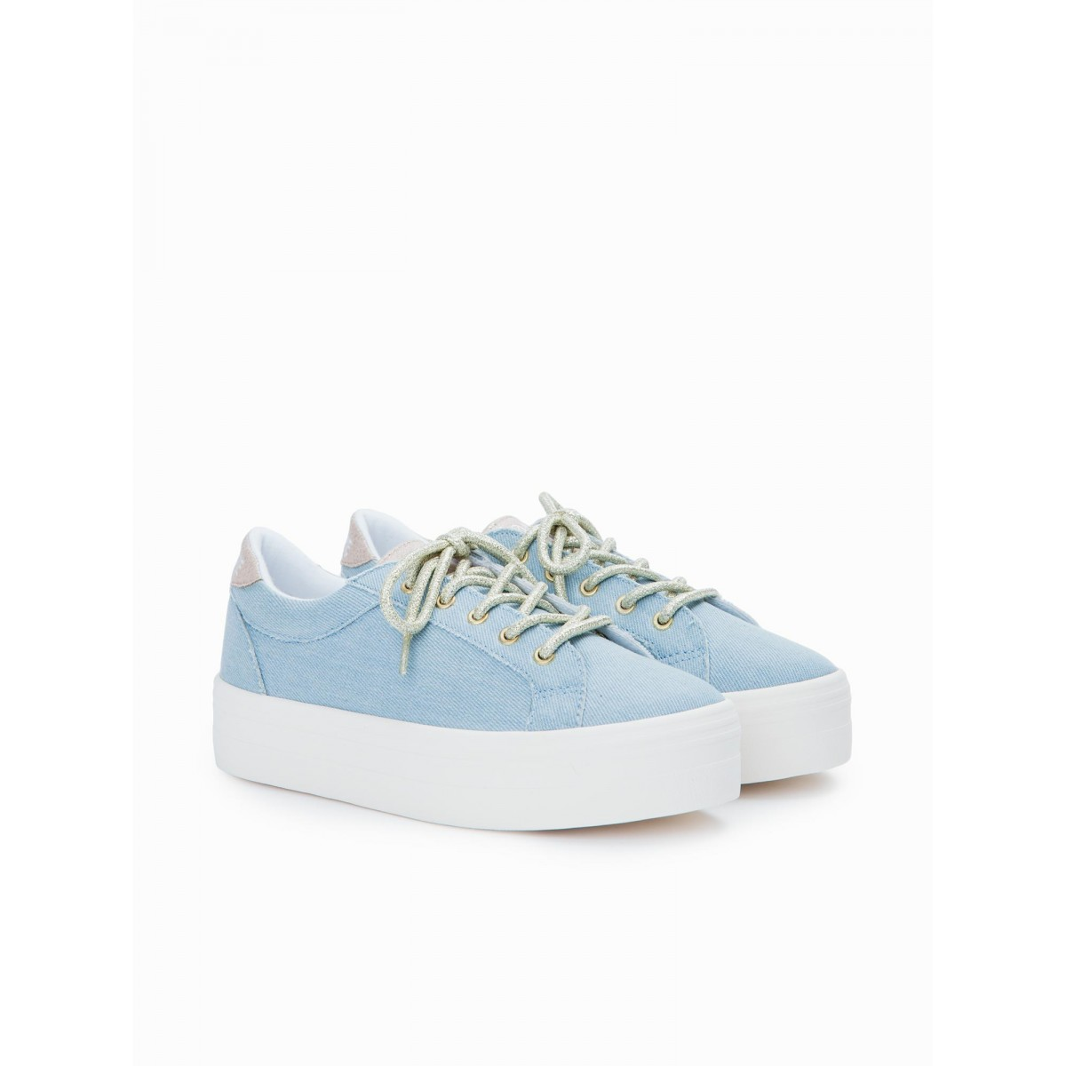 No Name PLATO BRIDGE - DENIM - CELESTE FOX OFFWHITE
