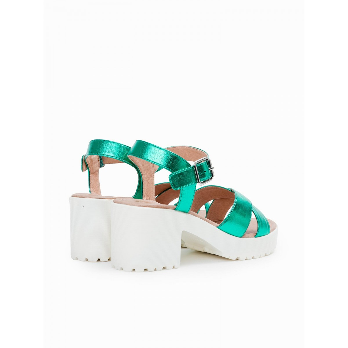 No Name TANGO ANKLE - STELLA - GREEN SOLE WHITE