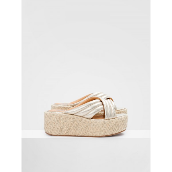 NO NAME BETTY MULE - IRUN - GOLD