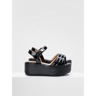 BETTY SANDAL - PATENT - BLACK