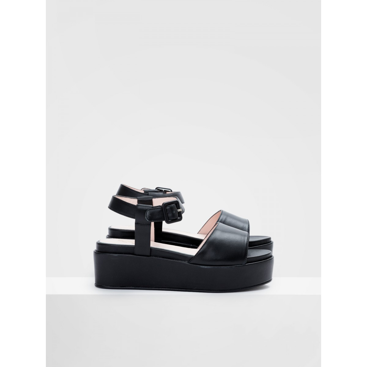 No Name MARTA SANDAL - LAMBSKIN - BLACK