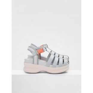 CONCRETE STRAPPY - NYLON - L.GREY SOLE L.PINK