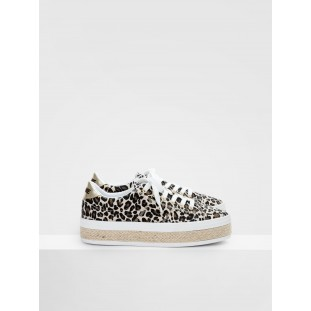MALIBU SNEAKER - CANVAS/LEOPARD - NATURAL