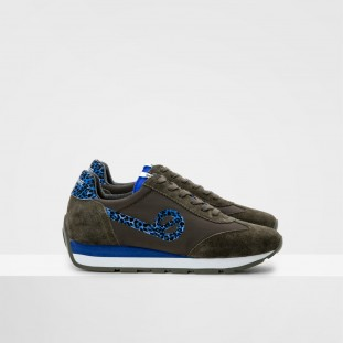 CITY RUN JOGGER - NYLON/COWSUEDE - OLIVE