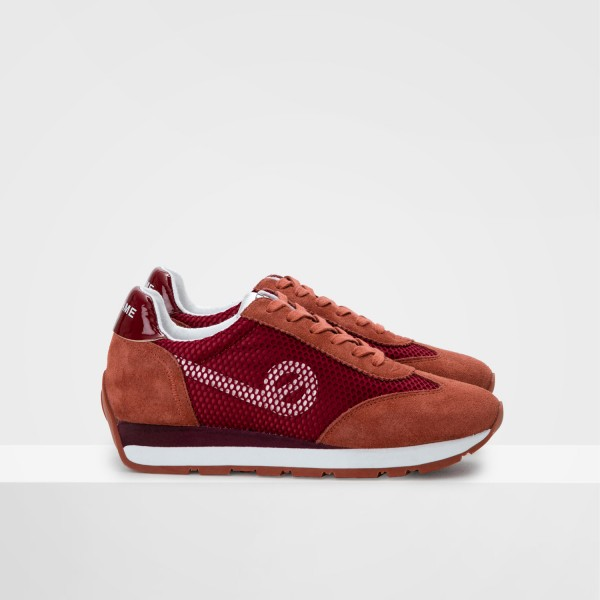 CITY RUN JOGGER - SATIN/COWSUEDE - BRIQUE/BISQUE