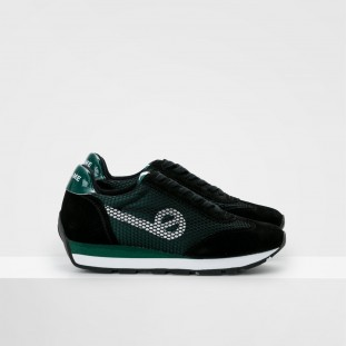 CITY RUN JOGGER - SATIN/COWSUEDE - FORET/BLACK