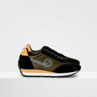 CITY RUN JOGGER - SATIN/COWSUEDE - HONEY/BLACK