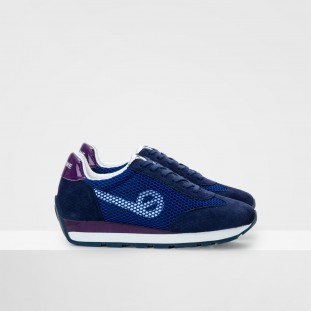 CITY RUN JOGGER - SATIN/COWSUEDE - Navy/Océan