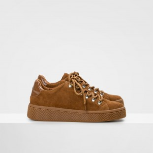 GINGER SNEAKER - COWSUEDE - NATUREL