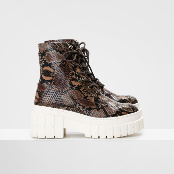 Kross Boots - Print Kobra - Brown