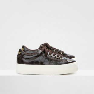Plato Sneaker - Print Croco - Brown