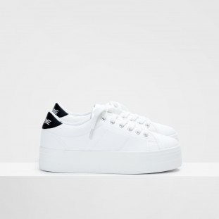 PLATO SNEAKER - CANVAS/SOFT - WHITE/BLACK