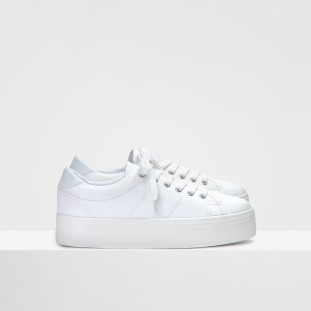 Plato Sneaker - Canvas - White Fox White