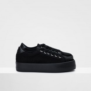 Plato Sneaker - Canvas - Black Fox Black
