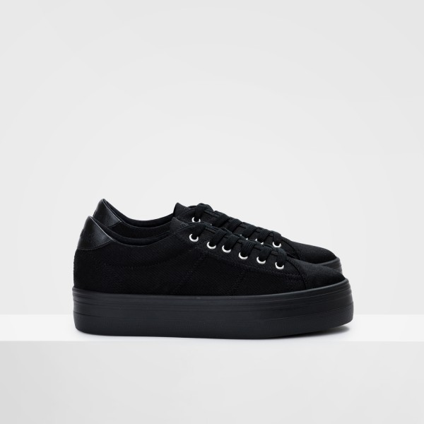 Plato Sneaker - Canvas - Black