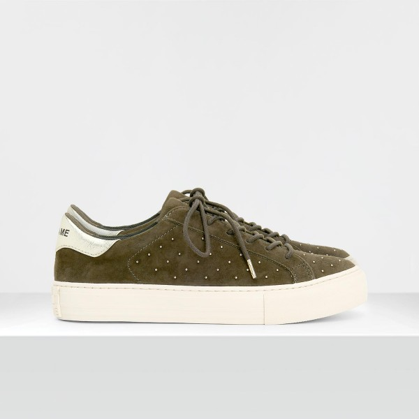 ARCADE SNEAKER - GOATSUEDE/STUDS - FOREST