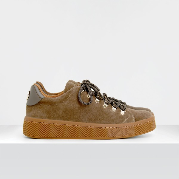 GINGER SNEAKER - SUEDE - TAUPE SOLE MASTIC