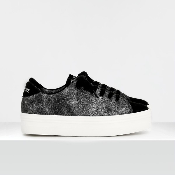 PLATO SNEAKER - SUEDE/GLOOM - BLACK/BLACK