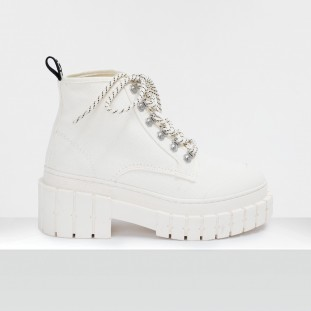KROSS LOW BOOTS - BIG CANVAS - IVORY SOLE IVORY