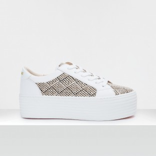SPICE SNEAKER - STRAW/NAPPA - BLACK/WHITE **WN