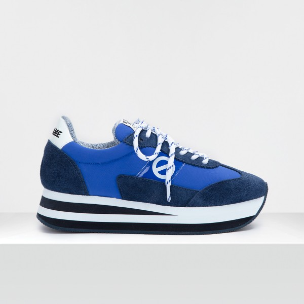 FLEX M JOGGER - SUEDE/TH.NYLON - NAVY/ELECTRIC BLUE