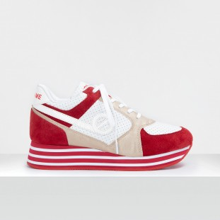 PARKO JOGGER - SUEDE/DAZZLER - RED/GOLD