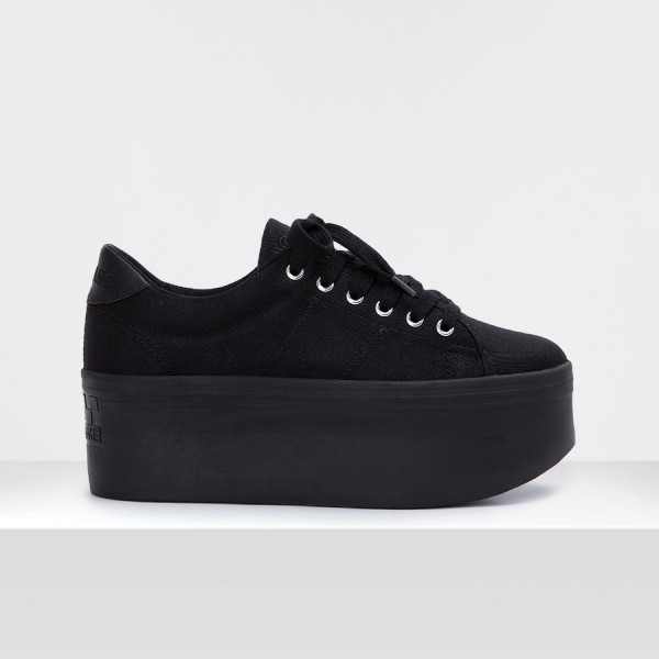 PLATO L SNEAKER - CANVAS - BLACK FOX BLACK