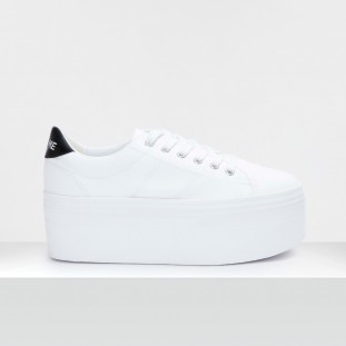 PLATO L SNEAKER - CANVAS/PATENT - WHITE/BLACK **WN