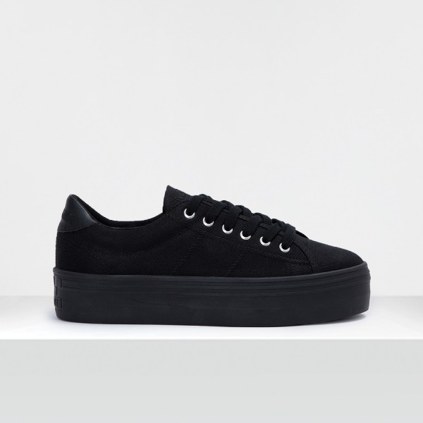 PLATO M SNEAKER - CANVAS - BLACK FOX BLACK