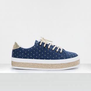 MALIBU SNEAKER - CANVAS DOTS - NIGHT BLUE