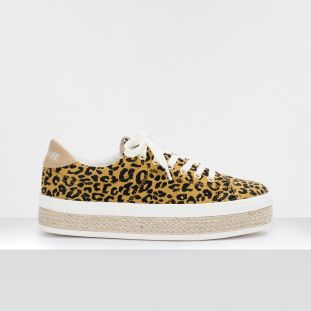 MALIBU SNEAKER - TWILL LEOPARD - HONEY