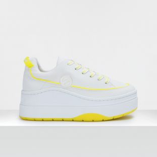JUMP DERBY - SOFT NYLON - WHITE SOLE YELLOW