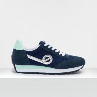 CITY RUN JOGGER - SUEDE/BREAKER - NAVY