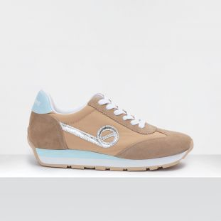 CITY RUN JOGGER - SUEDE/BREAKER - SAND/SKIN