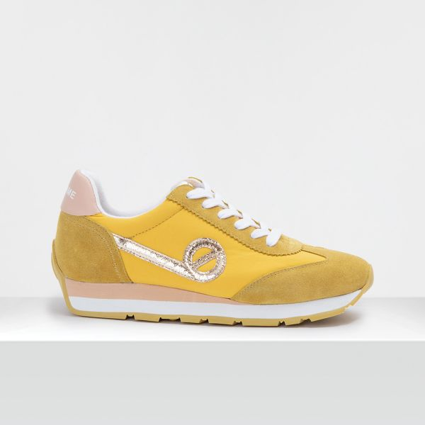 CITY RUN JOGGER - SUEDE/BREAKER - YELLOW